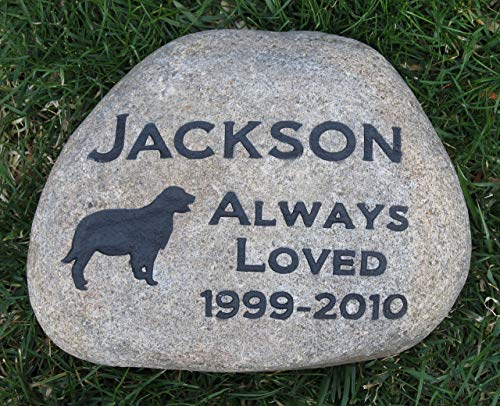 Golden Retriever Pet Memorial Stone, Dog Memorial Gift, Grave Marker, Pet Stone 8-9 Inch, All Breeds Available