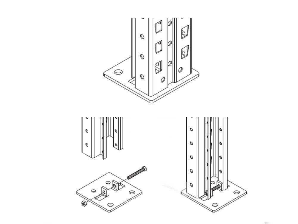 2 Meta Palettenregal Regal Rahmen Ständer Fuß Füße Fußplatte Typ S ...