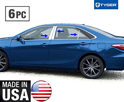 (Tyger Auto Made in USA! Works with 2015-2017 Toyota Camry 6PC Stainless Steel Chrome Pillar Post)