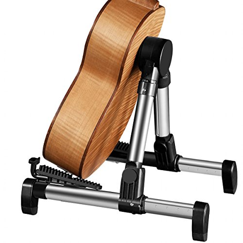 Flexzion Guitar Stand Folding Adjustable A-Frame Floor Portable Instrument Stand Rack Holder for Acoustic Electric Classical Guitar and Bass, Violin, Ukulele, Banjo, Mandolin Portable Lightweight by Flexzion (Image #1)