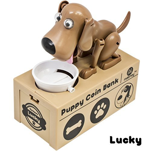Matney Dog Piggy Bank - Robotic Coin Toy Money Box  Coin Bank Collection - Great Gift for Any Child - Collect Them All For Complete Fun- (Lucky)