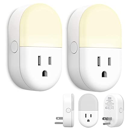 iMah Smart Outlet Plug, WiFi Smart Plug with Night Light work with Alexa  Google Assistant IFTTT Brightness Adjustable, 2-Pack