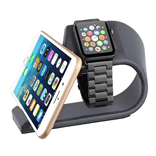 Apple Watch Stand And Cell Phone Stand 2 in1,Mortree Iwatch Charging Stand,Iphone Docking Station, Aluminum Alloy Platform Holder Charge Dock For Apple Watch And Iphone All Model(Black Metal - Watch Station Online