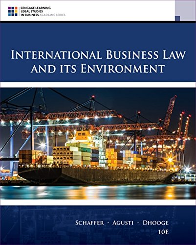 International Business Law and Its Environment (MindTap Course - Business European