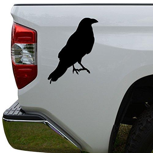 row Bird Raven Die Cut Vinyl Decal Sticker For Car Truck Motorcycle Window Bumper Wall Decor Size- [8 inch/20 cm] Tall Color- Matte Black ()