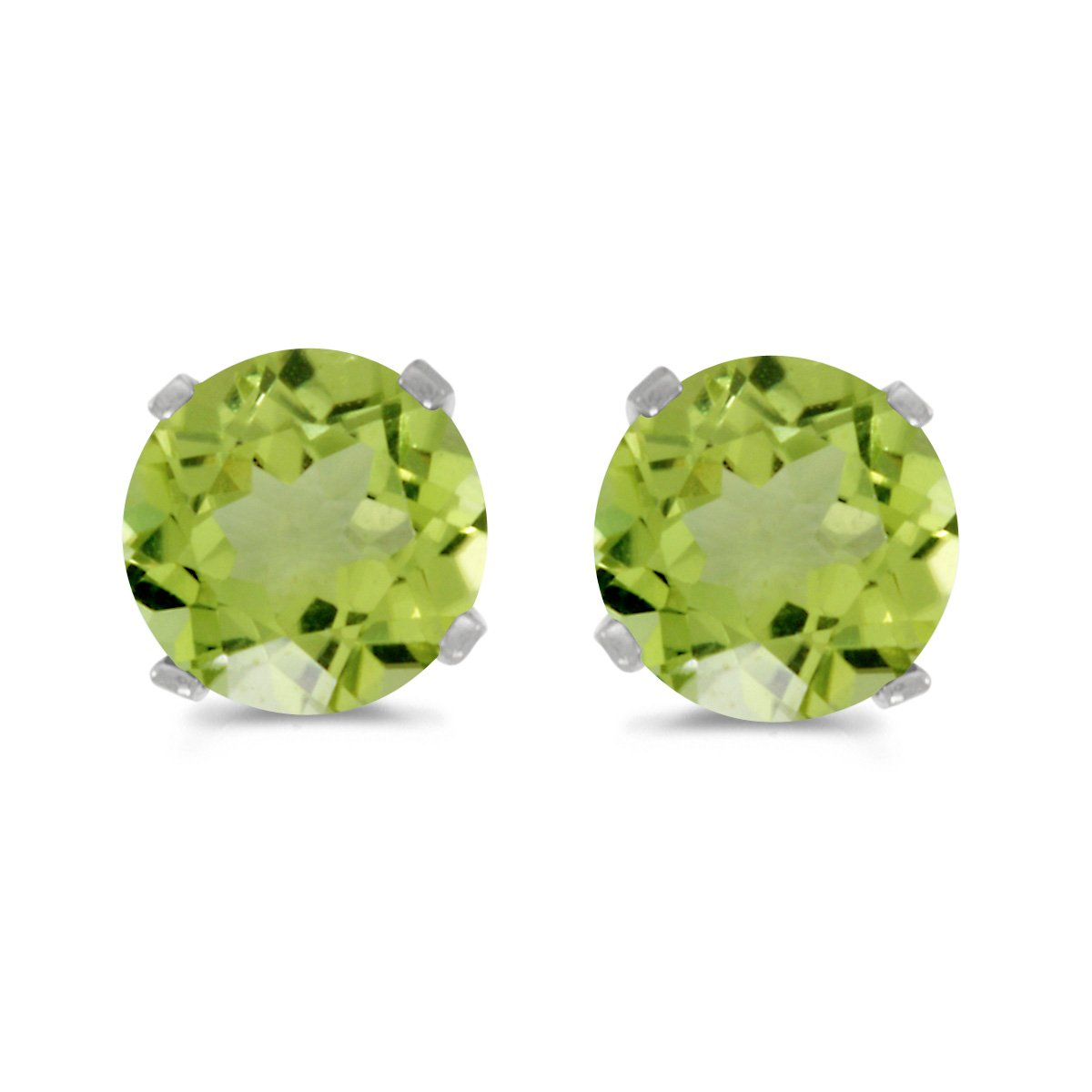 gemstone sterling products earring stud birthstone green earrings august peridot silver