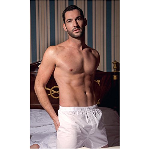 - Tom Ellis 8 inch x 10 inch PHOTOGRAPH Lucifer Rush Merlin Kneeling on Bed in White Boxer Shorts Hands on Backside Shirtless kn