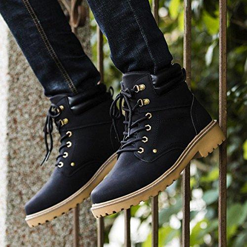 Boot Beauty Eleganti Uomo Stivali Martin Top Casual Nero Bassa Invernali Scarpe Stivali Uomo Caviglia Piatte Neve 1qr16