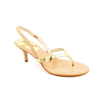 fa00fcec6901 Michael Kors Women s Bridget Kitten Heel Sandals in Nude Size 7.5