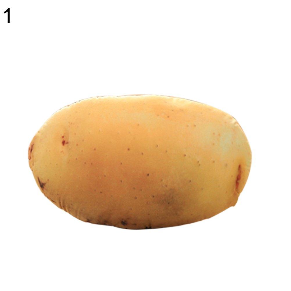 xMxDESiZ - Cojín de Felpa con diseño de Patatas y brocoli, 1 ...