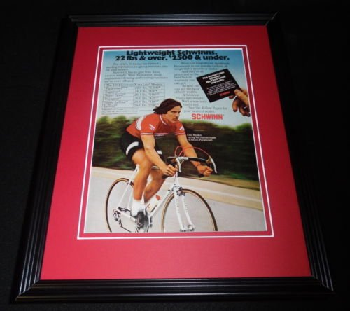 Eric Heiden 1981 Schwinn Bicycles 11x14 Framed ORIGINAL Vintage Advertisement