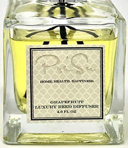 PriSu Reed Diffuser Grapefruit Scented Essential Oil - Natural Long Lasting Citrus Home Fragrance 4 fl oz by PriSu (Image #6)