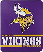 "NFL Unisex-Adult NFL Splitwide Printed Fleece Throw, 50"""