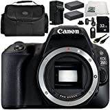 Canon EOS 200D DSLR Camera (Body Only) 9PC Accessory Bundle – Includes 32GB SD Memory Card + 2x Replacement Batteries + MORE - International Version (No Warranty)