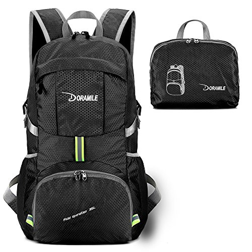 DORAMILE Hiking Backpack Lightweight Packable Travel Daypack,35L Foldable Camping Backpack,Ultralight Outdoor Sport Backpack by DORAMILE
