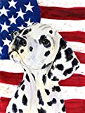 Caroline's Treasures SS4018CHF USA American Flag with Dalmatian Flag Canvas, Large, Multicolor Review