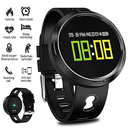 SLSH Smart Watch Hombres Mujeres IP68 Agua Densidad Frecuencia Cardíaca Tensiómetro SMS Push Smart Pulsera Fitness