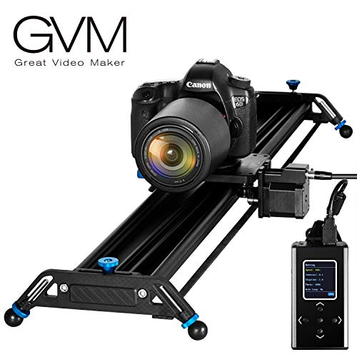 "GVM Camera Slider 48"" Electronic Motorized Time Lapse Video Shot Camera Dolly Slider with Controller for DSLR Camera DV Video Camcorder Film Photography, Load up to 44 lbs"