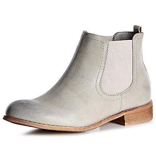 Boots Topschuhe24 Botines Gris Botín Chelsea Mujer IBgxSwB4
