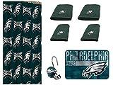 NFL Philadelphia Eagles 18 Piece Bath Ensemble: Set Includes 1 Shower Curtain, 12 Shower Hooks, 2 Bath Towels, 2 Hand Towels, and 1 Bath mat