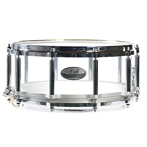 Pearl 6.5x14 Crystal Beat Free Floating Snare Drum Ultra Clear (Pearl Acrylic Drums)