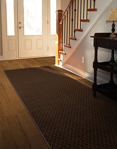Garland Rug Medallion Oversized Rug Runner, 3' x 12', Chocolate (Rug Foot Runner 12)