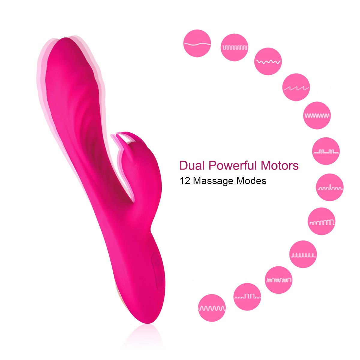 Portable Wireless Handheld Massager - Powerful Dual Motor - 12 Vibration Frequency Modes - Arbitrary Bending - Waterproof - USB Magnet Charging - Strongly Recommended for Healthy Sports Equipment