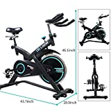 pooboo Professional Indoor Exercise Bike-Belt Drive with Pulse and LCD Display