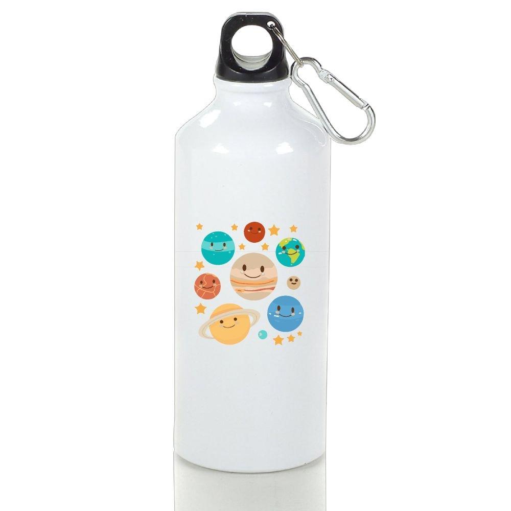 Wooun-6 Mountain Bike Aluminum Water Bottle Solar System Friends Sport Bottle