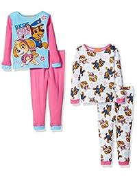 Nickelodeon girls Toddler Girls Paw Patrol Toddler 4-piece Pajama Set