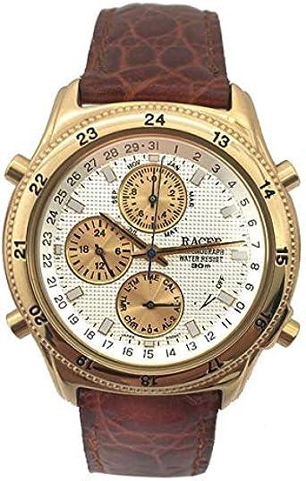 Racer Reloj Analog-Digital para Mens de Automatic con Correa en Cloth S0317345