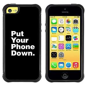 """Hypernova Defender Series TPU protection Cas Case Coque pour Apple iPhone 5C [Teléfono Unidades de Down Vida Focus""""]"""
