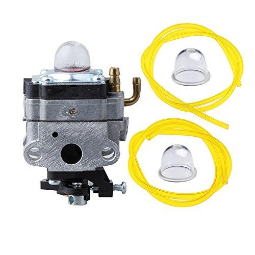 HIPA 753-1225 Carburetor with Primer Bulb Fuel Line for MTD Troy-Bilt Ryobi Yard Man Bolens Trimmer Tiller 753-04745 753-04296