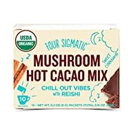 Four Sigmatic Organic Mushroom Hot Cacao with Reishi to Relieve Stress, Vegan, Paleo, 0.2 Ounce (10 Count)
