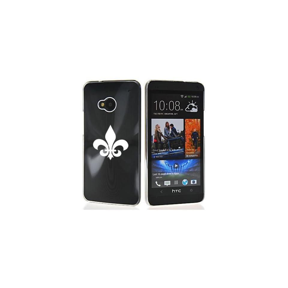 Black HTC One M7 Sprint AT&T T Mobile Aluminum Plated Hard Back Case Cover 7M138 Fleur De Lis Cell Phones & Accessories