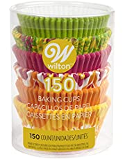 Wilton 415-2180 150 Count Neon Floral Baking Cups, Standard