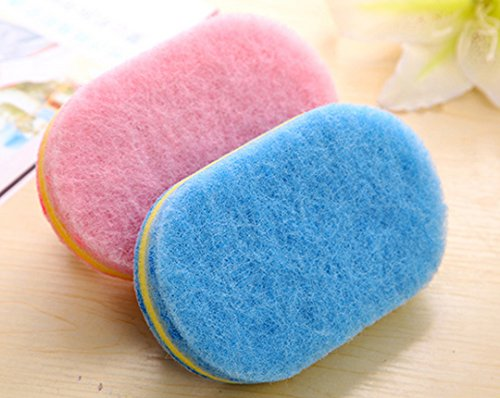 CY Household Cleaning Supplies for Kitchen, Bathroom - Plastic Handle Sponge Brush - Tile, Shower Bathtub Scrubber, Set of 2, Color Send by Random by chuangyu (Image #4)