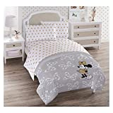 Franco Disney Minnie Mouse Full/Queen Quilt Set Gray/White