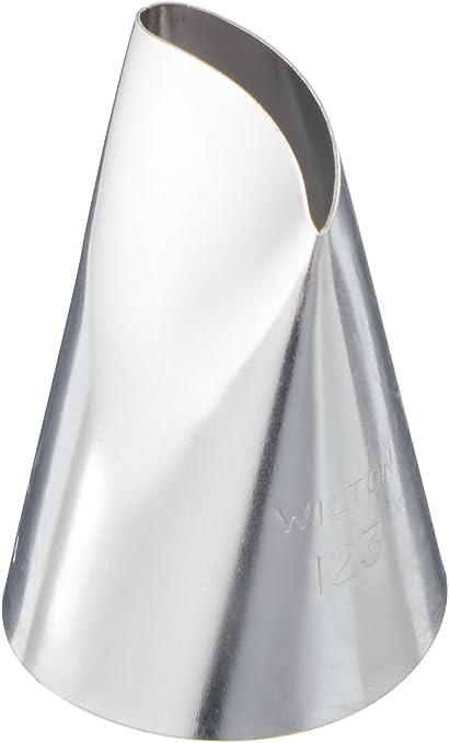 Wilton Stainless Steel Large Petal Decorating Tip #123