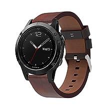 Gosuper Luxury Genuine Leather Smart Watch Band for Garmin Fenix 5