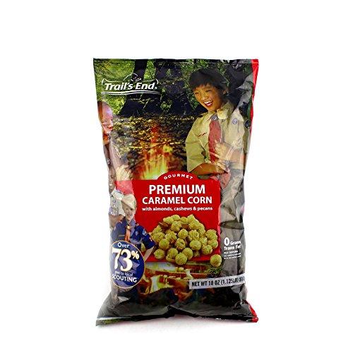 Premium Caramel Popcorn with Almonds, Cashews, Pecans - Support Scouting