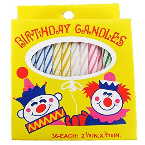 Sterno CandleLamp | Assorted Birthday Candle Set | 36 Count ()