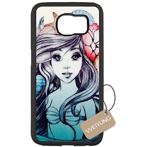 Diy Customized Cell Phone Case for Fairy Tale Princess Black Samsung Galaxy s7 Hard Back Cover Shell Phone Case (Fit: Samsung Galaxy s7) Sales