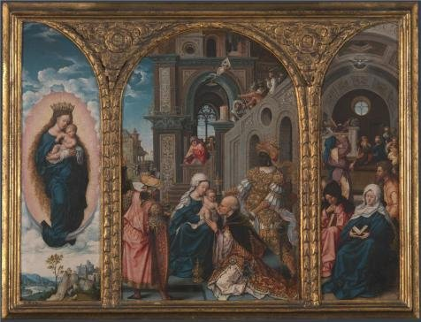 Perfect Effect Canvas ,the Amazing Art Decorative Prints On Canvas Of Oil Painting 'Circle Of Jan Gossaert - The Adoration Of The Kings,early 16th Century', 10x13 Inch / 25x33 Cm Is Best For Kids Room Artwork And Home Gallery Art And Gifts