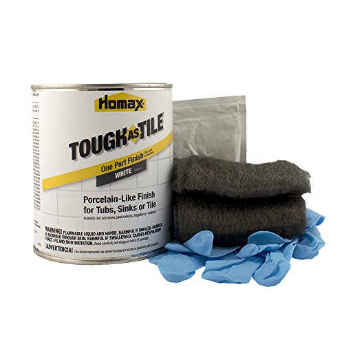Tub and Tile Refinishing Kit, White, 21 oz, Brush On, Tough as Tile ()