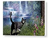 Cat Wall Art Canvas Prints - On The Way Home - Gallery Wrap 16x24 inches - Great Choice for Pet...