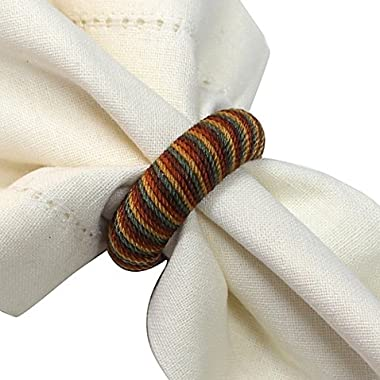 Set of 12 Harvest Twist Napkin Rings