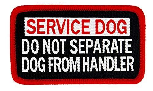 DO NOT SEPARATE DOG FROM HANDLER Service Dog Woven Patch (Small SEW-ON (1.5