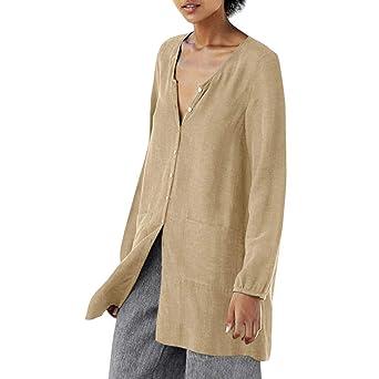 Blusa para mujer camisa parte superior cuello en V sueltas ...