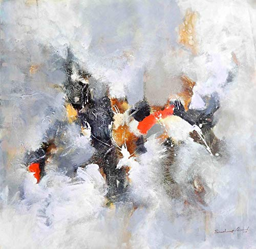 Abstract Mix Of Colour Acrylic Color Painting By Sandeep